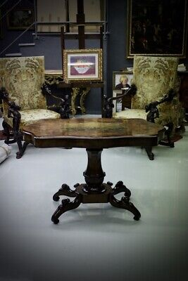 Rare Table A Biscuit / Briar Walnut / Antique Incision On Level / 900