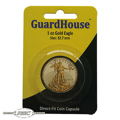 #7824687 BOX OF 250 GUARDHOUSE AIRTITE  1 OZ GOLD EAGLE  32mm DIRECT FIT H32