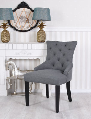 Visitor Recliner Chair Ringstuhl Upholstered Chair Grey Dining Chair Loft Chair