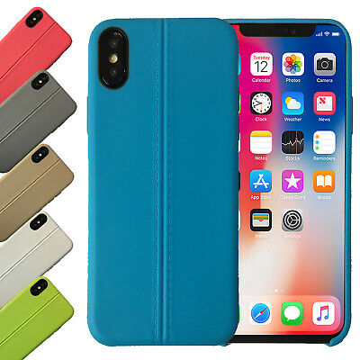 Anti-urto Lusso TPU in pelle Ultra Sottile Custodia per Apple Iphone XS Cover X