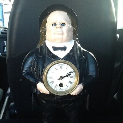 Rare John Bull With Moving Left to Right Eyes Mantle Clock