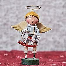 "Lori Mitchell Toy Shoppe Angel Boy Rocking Horse Figure 6"" NEW # 11107 Xmas"