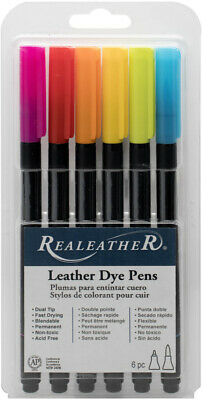 Brights - Realeather Crafts Leather Markers 6/Pkg