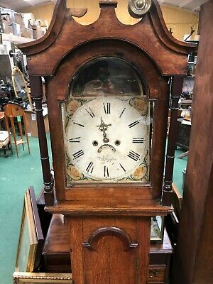 19th Century Oak Grandfather Clock For Restoration