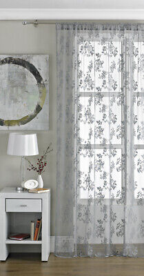 Country Club Encaje Vintage Panel Peltre 145x229cm Visillo Patrón Floral Privacy