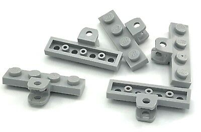 Lego 5 New Light Bluish Gray Plates Modified 1 x 2 with Small Towball w// Socket