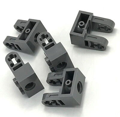 LEGO Dark Bluish Gray Technic Brick 1x2 Dual Liftarm Extensions Lot of 100 Parts