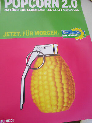 German Green Party Poster Anti GMO Genetically Modified Food Protest Europe 1990