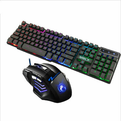 AU Gaming Keyboard And Mouse Set Anti-slip Wheel USB For PS4 Xbox One And 360