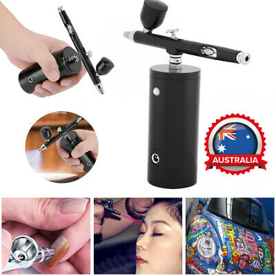 Portable Action Airbrush Kit Compressor Spray Gun For Nail Tattoo Art Desgin AU
