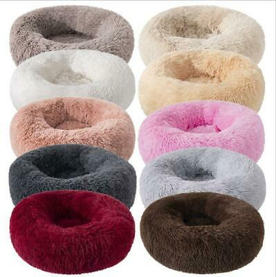 UK Dog Pet Bed large Luxury Shag Warm Fluffy Puppy Kitten Fur Donut  Cushion Mat