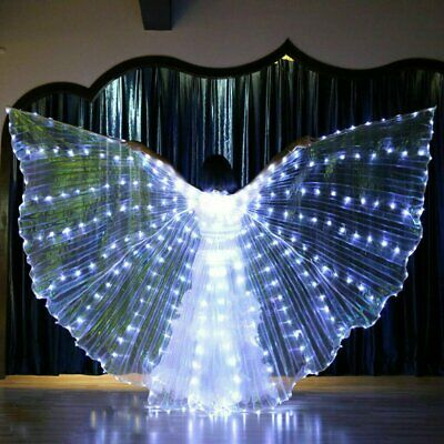 LED Dress Belly Dance LED Isis Wings Egyptian Club Light Up Show Wings Party AU