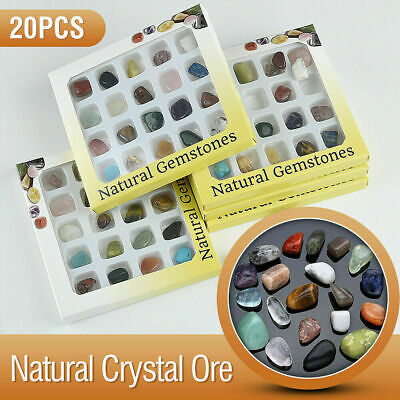 20x Crystal Chakra Amethyst Stone Gemstone Reiki Polished Healing Collection