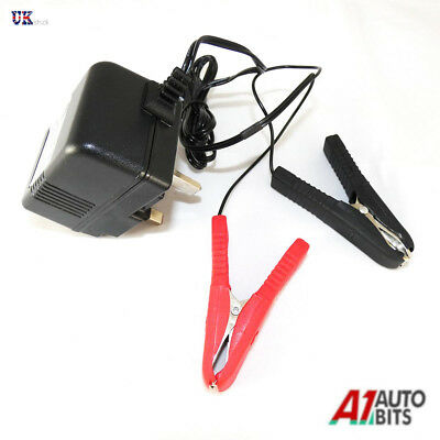 12v 12 Volt Electric Trickle Battery Charger Car Motorcycle Quad Mower Leisure
