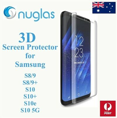 3D NUGLAS Tempered Glass Screen Protector for Samsung Galaxy S8 S9 S10 and Plus
