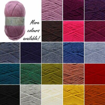 King Cole Big Value Super Chunky Wool Yarn Knitting 100% Premium Acrylic 100g