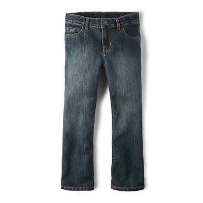 NWT The Children's Place Boys Boys Basic Bootcut Jeans - Dust Wash Size 10R