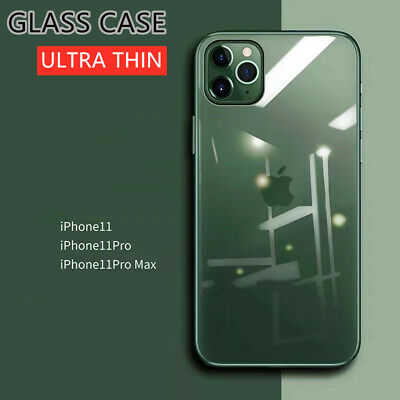 New Tempered Glass Mirror Plating TPU Luxury Case Cover For iPhone 11 Pro Max