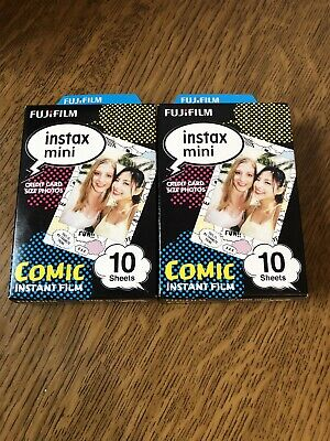 2+Fujifilm Instax Mini COMIC STRIP Film (20)Shots)