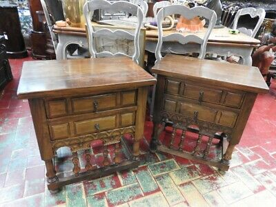 Original Cabinets Nightstands Spanish Rich Sculpture Wood Solid Wood Quality'