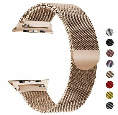Pulsera Milanese Loop correa de acero inoxidable para Apple Watch Serie 2 3