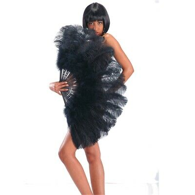 Fan Extra Luxury Giant Black Ostrich Feathers For Burlesque