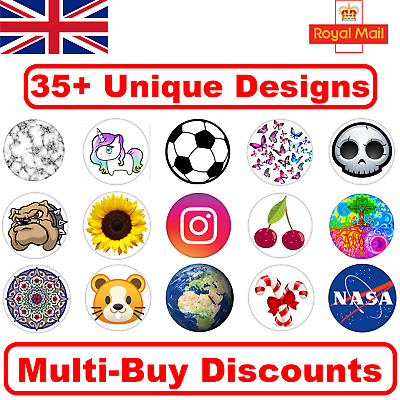 NEW! 35+ Unique Pop Out Phone Holder Finger Grip Expanding Socket Stand UK