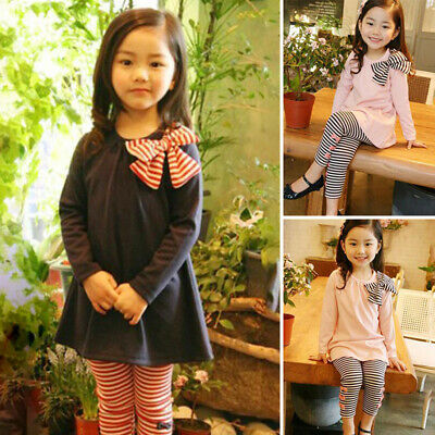 Kids Girls outfit Children Elastic Waist Girls outfit Lovely Girls Trousers
