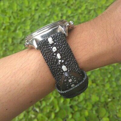 Stingray watch band   strap watch from genuine stingray leather rowstone type