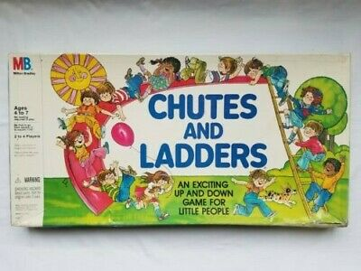 Vintage 1979 Chutes And Ladders Board Game Milton Bradley # 4555 Caldor COMPLETE