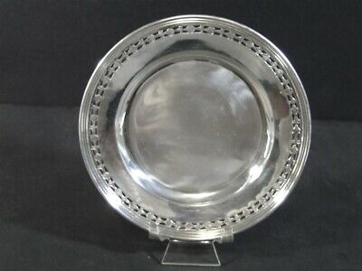 Vtg International H413-3 Sterling Silver Pierced Cut Out Bread & Butter PLATE