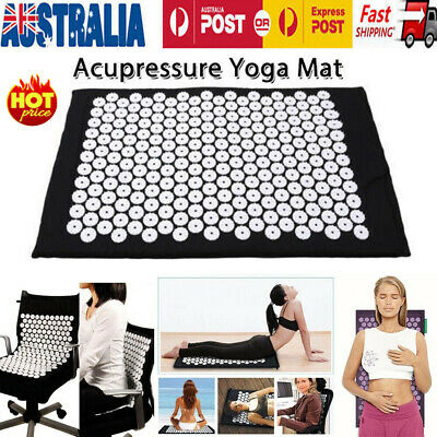 AU Massage Acupressure Mat Yoga Shakti Sit Lying Mats Cut Pain Stress Soreness