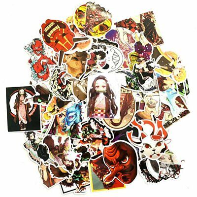 50PCS Demon Slayer Anime Stickers Skateboard Laptop Luggage Fridge Decal Great