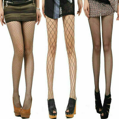 New Ladies' Tights Fishnet/Whalenet Tights Black Dance Plus Size 8-10 Uk Stretch