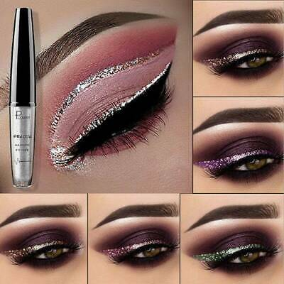 Waterproof Metallic Sparkly Makeup Eyeshadow Glitter Liquid Eyeliner Shimmer