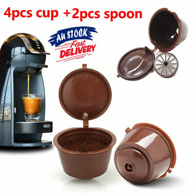 2 Sets Refillable Reusable Filter Pod Coffee Pod For Dolce Gusto Nescafe
