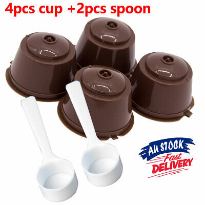 2 Sets Dolce Gusto Coffee Refillable Capsule Cup Reusable Filter Pod Nescafe Pod