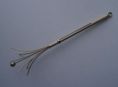 A Good Vintage 9Ct Gold Swizel Stick, Full English Hallmarked Birmingham