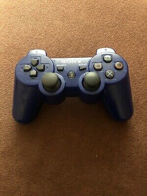 Official Original Genuine Sony PS3 Playstation 3 Dual Shock 3 Blue Controller