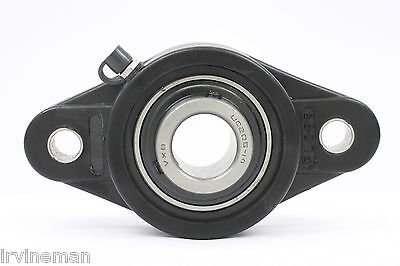 """UCNFL209-26 1 5/8"""" Inch Bearing Thermoplastic Flanged Cast Housing 2 Bolt 17751"""