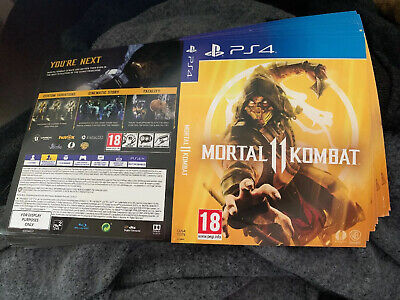 Mortal Kombat 11 PS4 Display Case Poster X2