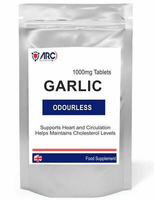 Odourless Garlic capsule 1000mg - 200 Capsules  (FOIL-FRESH POUCH)