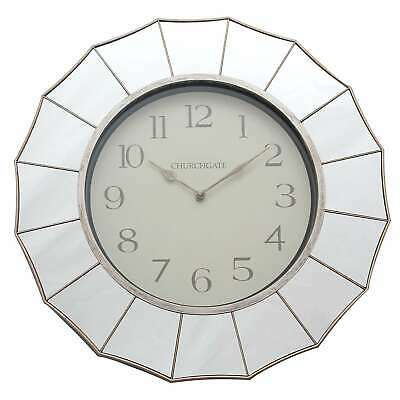 New Classic Art Deco Style Mirrored Edge Wall Clock Lounge