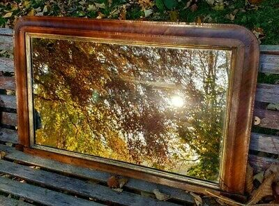 MIRROR VICTORIAN 1880s RECTANGLE WOOD FRAME ENGLISH MADE