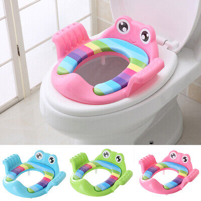 Toddler Toilet Seat Potty Training WC Seat Baby Handle Soft Pad Trainer Kids