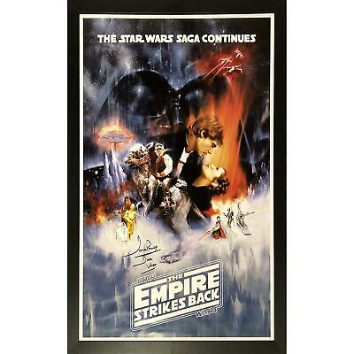 Dave Prowse Darth Vader Autographed And Framed Empire Strikes Back Signed Poster