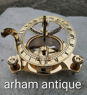 Vintage Navigation Compass Nautical Astrolabe Camping Compass Marine Gift & Desk