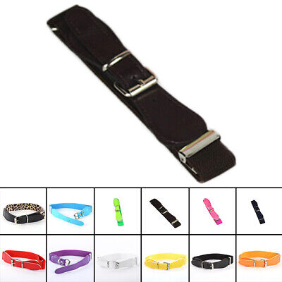 Leather Belt Skinny Infant Thin Metal Pin Stretchy Candy Color Childrens