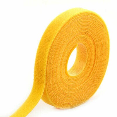 Outdoor Office Sticky Tape Fabric Self Adhesive Hook and Loop Fastener Yellow