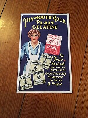 Vintage PLYMOUTH ROCK Plain Gelatine Recipes Advertising Recipes Coffee Jelly